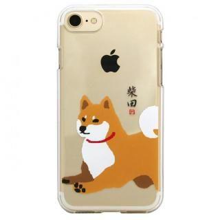 【iPhone8 ケース】しばたさんクリアケース ジャンプ iPhone 8/7【7月下旬】
