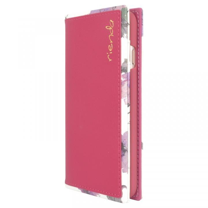 iPhone8/7/6s/6 ケース rienda スクエア手帳型ケース Parm Flower/ピンク iPhone SE 第2世代/8/7/6s/6_0