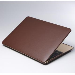 Deff 薄型PUレザーMacBookケース ブラウン