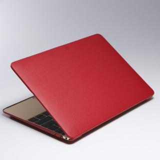 Deff 薄型PUレザーMacBookケース レッド