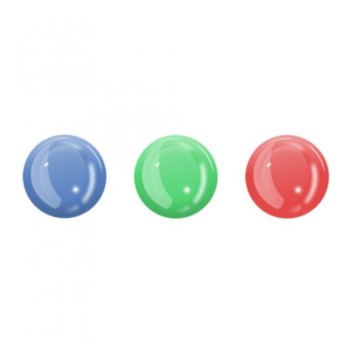 3ピース 蓄光ホームボタンシール (レッド ブルー グリーン)_0