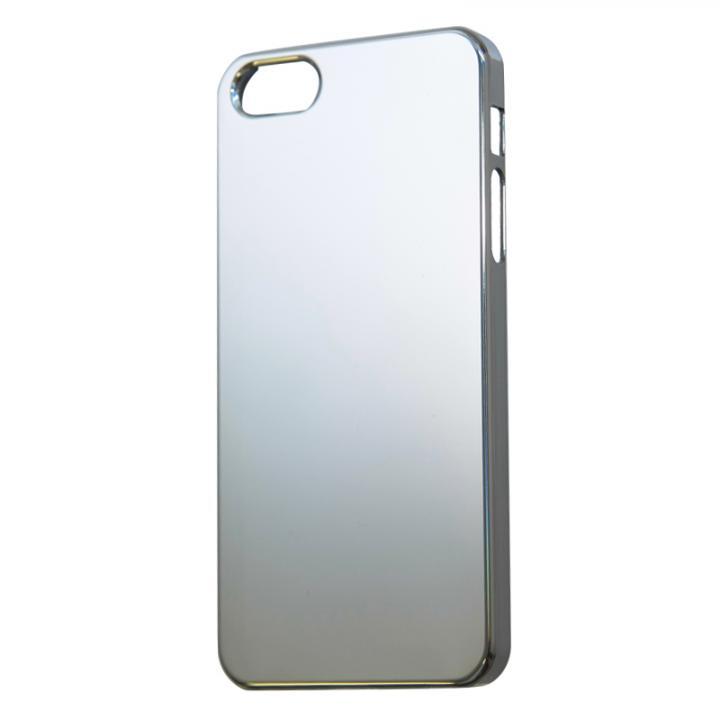【iPhone SE/5s/5ケース】iPhone SE/5s/5用レインボーカラーセルフリペアコーティングケース シルバー_0