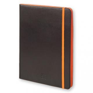モレスキン バイカラー タブレットケース 7~8インチ対応 ブラック/オレンジ