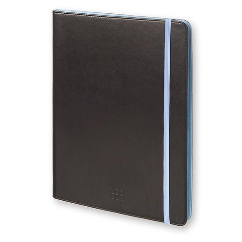 モレスキン バイカラー タブレットケース 7~8インチ対応 ブラック/ブルー_0