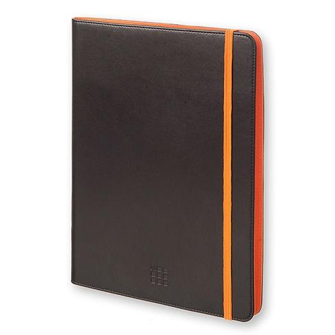 モレスキン バイカラー タブレットケース 9~10インチ対応 ブラック/オレンジ_0