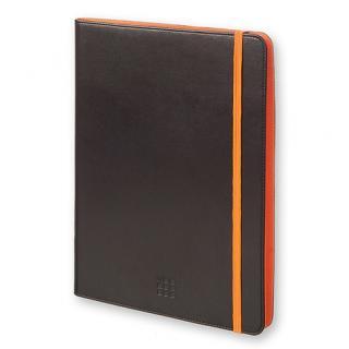 モレスキン バイカラー タブレットケース 9~10インチ対応 ブラック/オレンジ