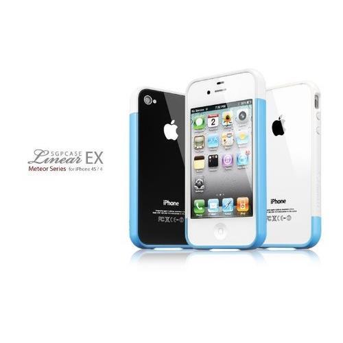 Spigen Case Linear EX Meteor Series ブルー iPhone4/4sケース_0