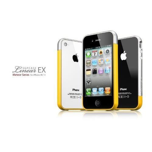 Spigen Case Linear EX Meteor Series イエロー iPhone4/4sケース