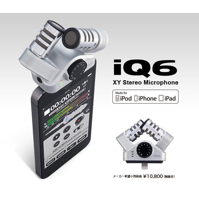 奥行きのある音像で録音できる XYステレオマイク iQ6