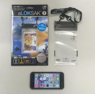 【iPhone6ケース】aLOKSAK 防水マルチケース ネックストラップ