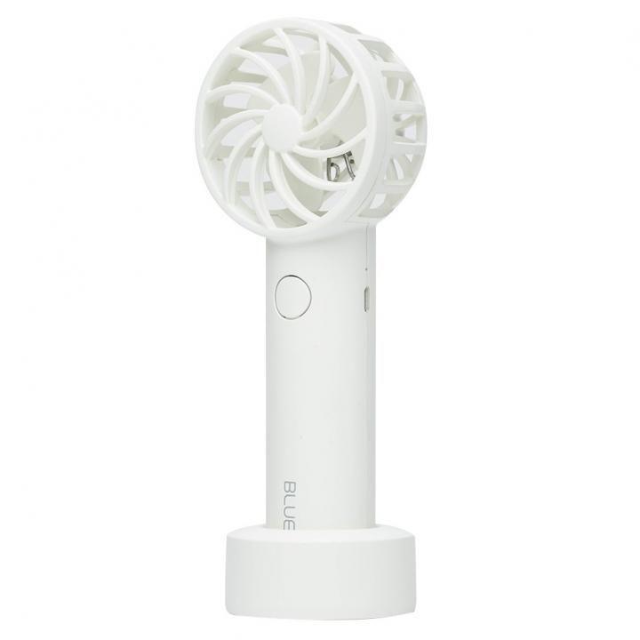 BLUEFEEL 超小型ヘッド ポータブル扇風機 スノーホワイト