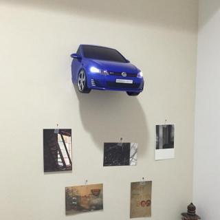 VWゴルフ GTI A7 3Dデコライト ブルー