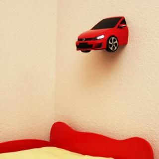 VWゴルフ GTI A7 3Dデコライト レッド
