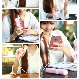 [2600mAh]モバイルバッテリー付き扇風機 MiniFan ピンク_8