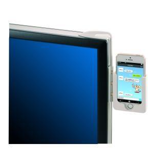 モニター取り付け型ホルダー iPhone SE/5s/5 ブラック_4