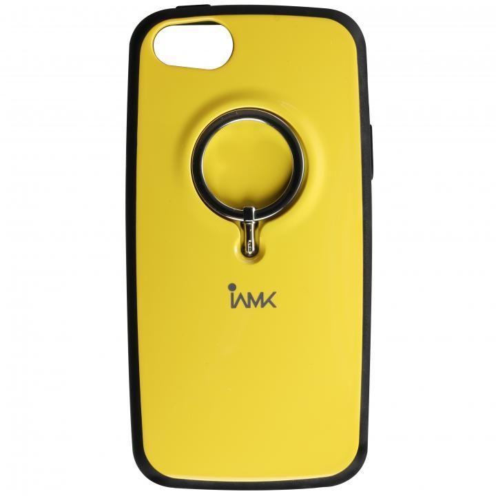 【iPhone SE/5s/5ケース】IAMK 落下防止リング付きケース イエロー iPhone SE/5s/5_0