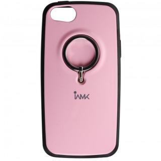 iPhone SE/5s/5 ケース IAMK 落下防止リング付きケース ピンク iPhone SE/5s/5