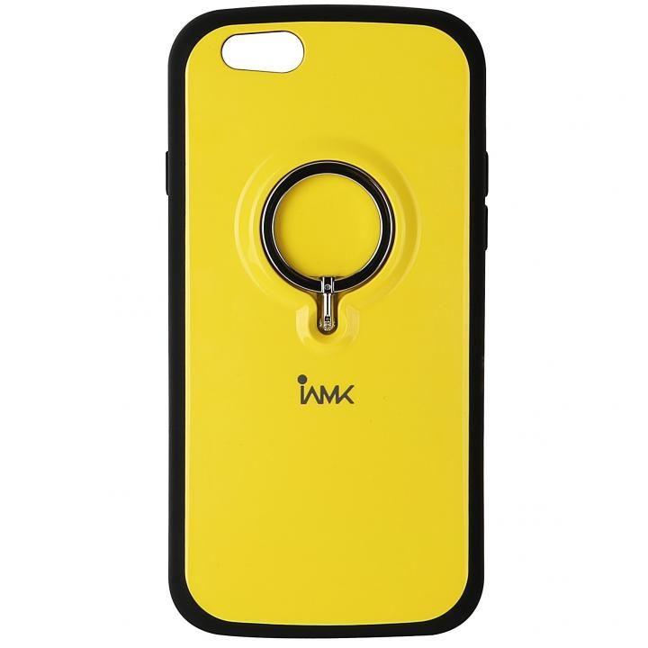 iPhone6s/6 ケース IAMK 落下防止リング付きケース イエロー iPhone 6s/6_0