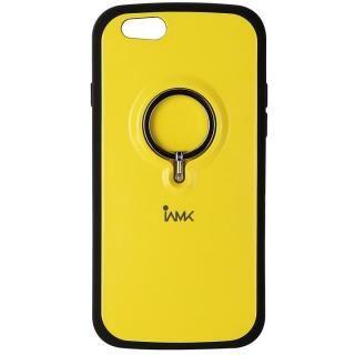 iPhone6s/6 ケース IAMK 落下防止リング付きケース イエロー iPhone 6s/6