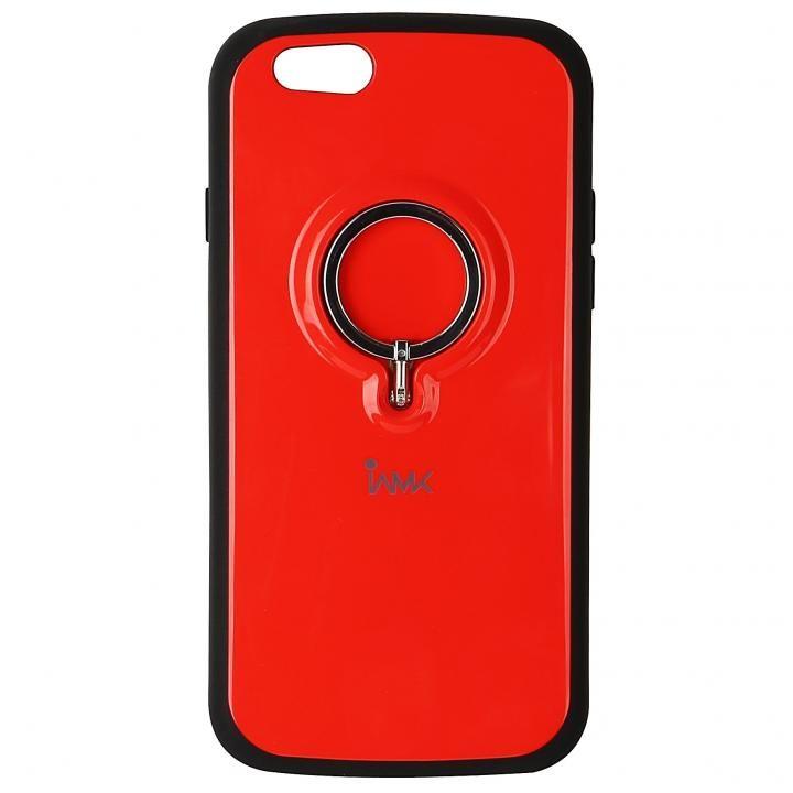 iPhone6s/6 ケース IAMK 落下防止リング付きケース レッド iPhone 6s/6_0