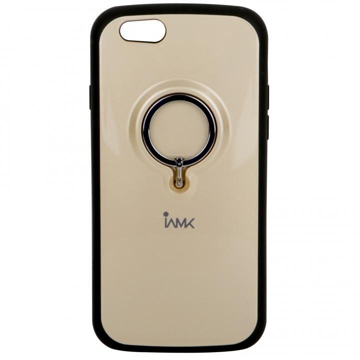 iPhone6s/6 ケース IAMK 落下防止リング付きケース ゴールド iPhone 6s/6_0