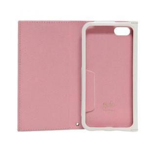 【iPhone7ケース】iPhone7対応 gufo ストラップ付手帳型ケース  ライトピンクxホワイト_1