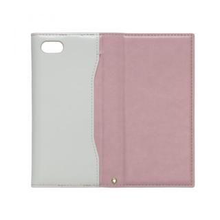 【iPhone7ケース】iPhone7対応 gufo ストラップ付手帳型ケース  ライトピンクxホワイト_3