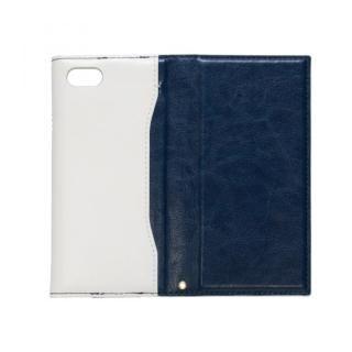 【iPhone7ケース】iPhone7対応 gufo ストラップ付手帳型ケース  ネイビーxホワイト_3