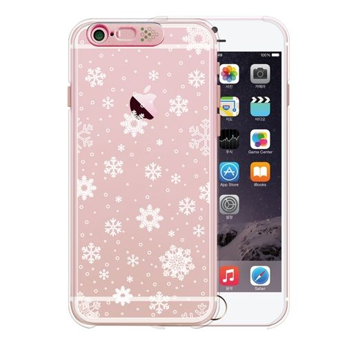 【iPhone6s/6ケース】Clear Season2 Snow (Rose Gold)_0