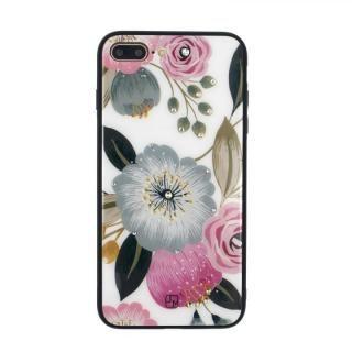 iPhone8 Plus/7 Plus ケース JM GLASS DESIGN CASE ラナンキュラス iPhone 8 Plus/7 Plus