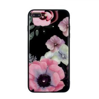 iPhone8 Plus/7 Plus ケース JM GLASS DESIGN CASE アネモネ iPhone 8 Plus/7 Plus
