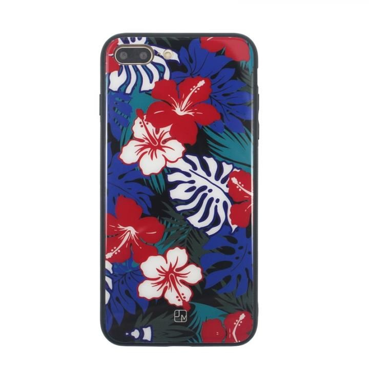 iPhone8 Plus/7 Plus ケース JM GLASS DESIGN CASE ハイビスカス iPhone 8 Plus/7 Plus_0