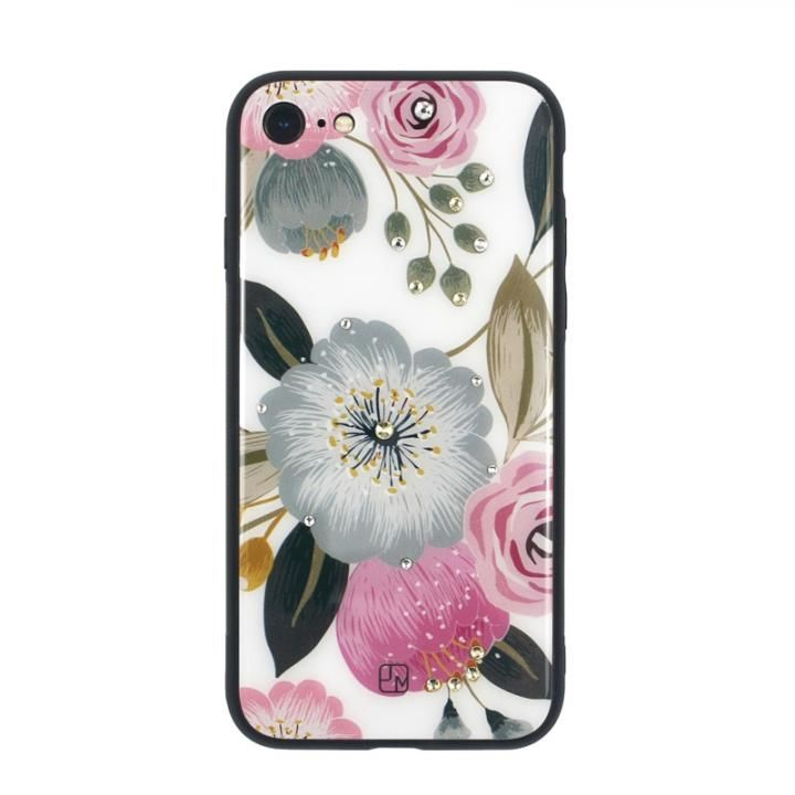 【iPhone8/7ケース】JM GLASS DESIGN CASE ラナンキュラス iPhone 8/7_0
