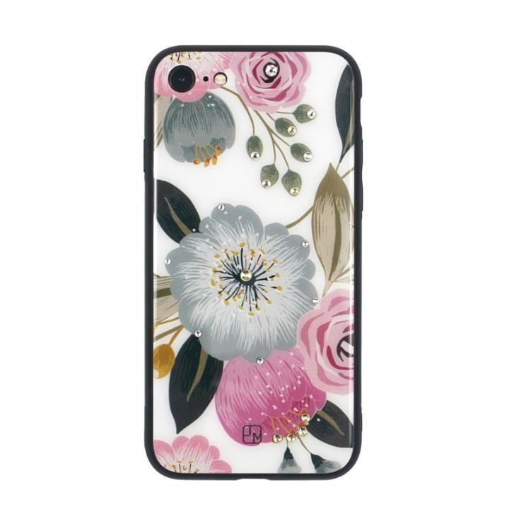 JM GLASS DESIGN CASE ラナンキュラス iPhone 8/7