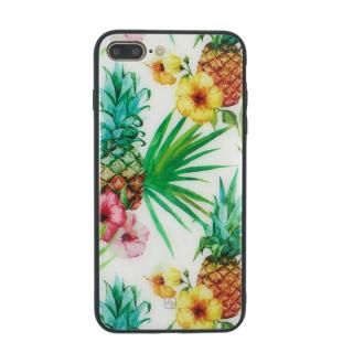 【iPhone8 Plus/7 Plusケース】JM GLASS DESIGN CASE パイナップル iPhone 8 Plus/7 Plus