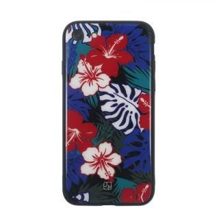 【iPhone8/7ケース】JM GLASS DESIGN CASE ハイビスカス iPhone 8/7