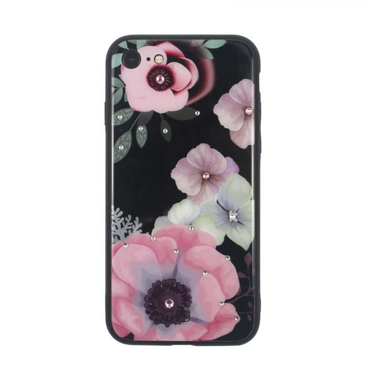 iPhone8/7 ケース JM GLASS DESIGN CASE アネモネ iPhone 8/7_0