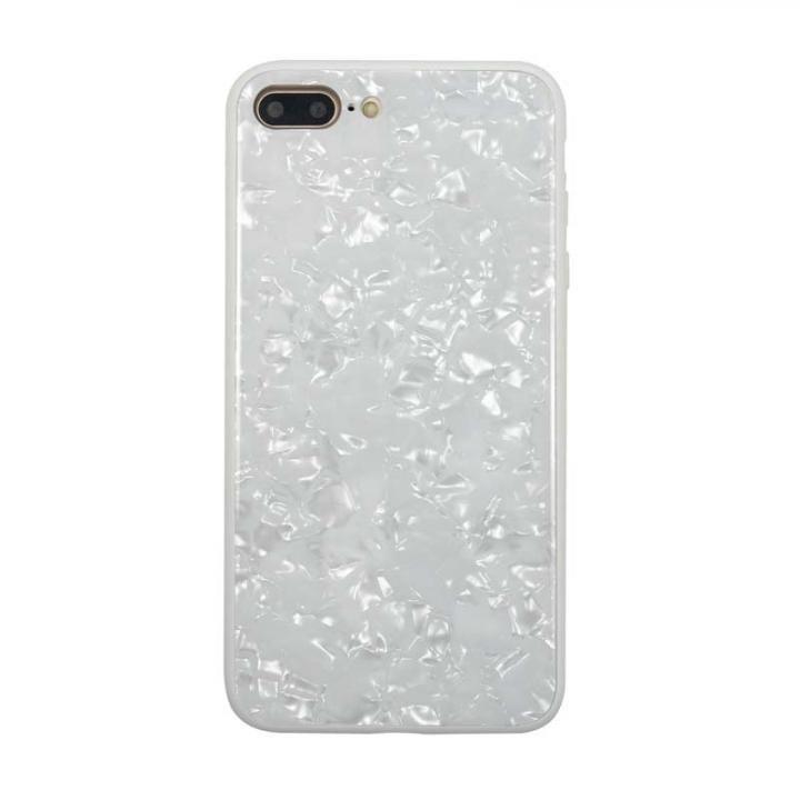 【iPhone8 Plus/7 Plusケース】JM GLASS PEARL CASE ホワイト iPhone 8 Plus/7 Plus_0