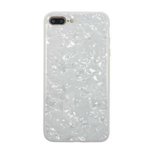 iPhone8 Plus/7 Plus ケース JM GLASS PEARL CASE ホワイト iPhone 8 Plus/7 Plus