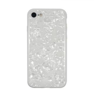 JM GLASS PEARL CASE ホワイト iPhone 8/7