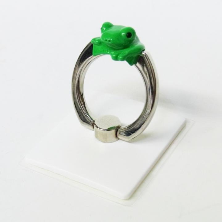 アニマルスマホリング カエル/グリーン