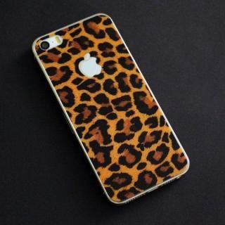 iPhone SE/5s/5 フィルム 東京ガールズコラボ カラーカスタム 背面保護強化ガラス ヒョウ/背面 iPhone SE/5s/5