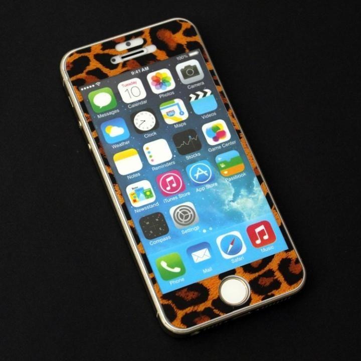 iPhone SE/5s/5 フィルム 東京ガールズコラボ カラーカスタム 液晶保護強化ガラス ヒョウ/前面 iPhone SE/5s/5c/5_0