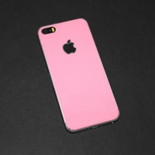 iPhone SE/5s/5 フィルム 東京ガールズコラボ カラーカスタム 背面保護強化ガラス ピンク/背面 iPhone SE/5s/5