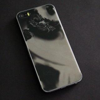 iPhone SE/5s/5 フィルム 東京ガールズコラボ カラーカスタム 背面保護強化ガラス 龍/背面 iPhone SE/5s/5