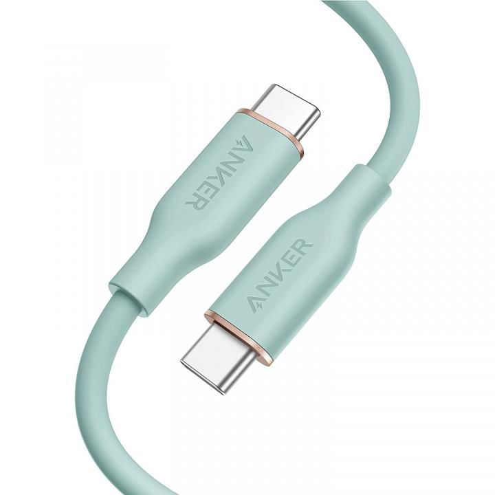 Anker PowerLine III Flow USB-C & USB-C ケーブル 0.9m ミントグリーン_0