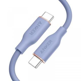 Anker PowerLine III Flow USB-C & USB-C ケーブル 0.9m ラベンダーグレイ【8月上旬】