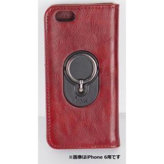 【iPhone6s Plus/6 Plusケース】IAMK 落下防止リング付き手帳型ケース ワイン iPhone 6s Plus/6 Plus