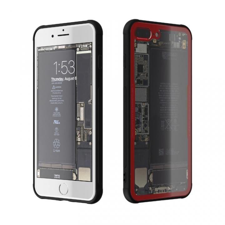iPhone7 Plus ケース 背面強化ガラスケース Eureka Translucent レッド iPhone 7 Plus_0