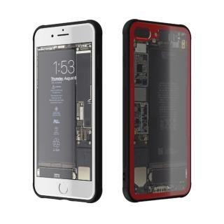 背面強化ガラスケース Eureka Translucent レッド iPhone 7 Plus